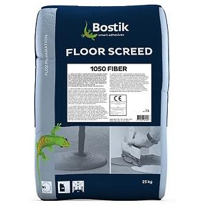 Самовыравнивающаяся смесь для пола армированная Bostik Floor Screed 1050 Fiber, 25 кг