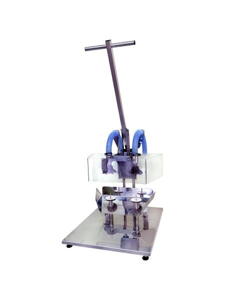 Производственная машина для удаления сердцевины яблока, груши и их нарезки дольками КВ-100