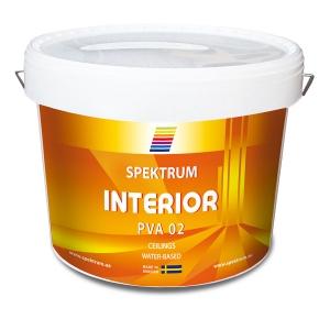 Краска водоэмульсионная для потолков Spektrum Interior 02 (vit), 10 л