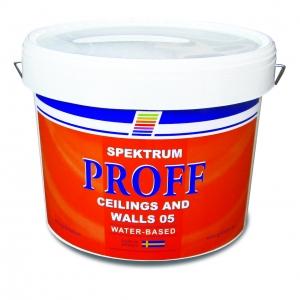 Водоэмульсионная краска для стен и потолков Spektrum  Proff 05 (vit), 10 л