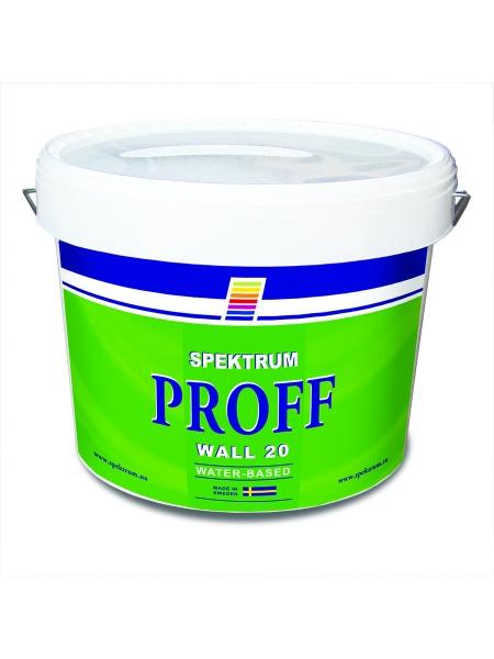 Водоэмульсионная краска для внутренних работ Spektrum Proff 20 (vit), 10 л