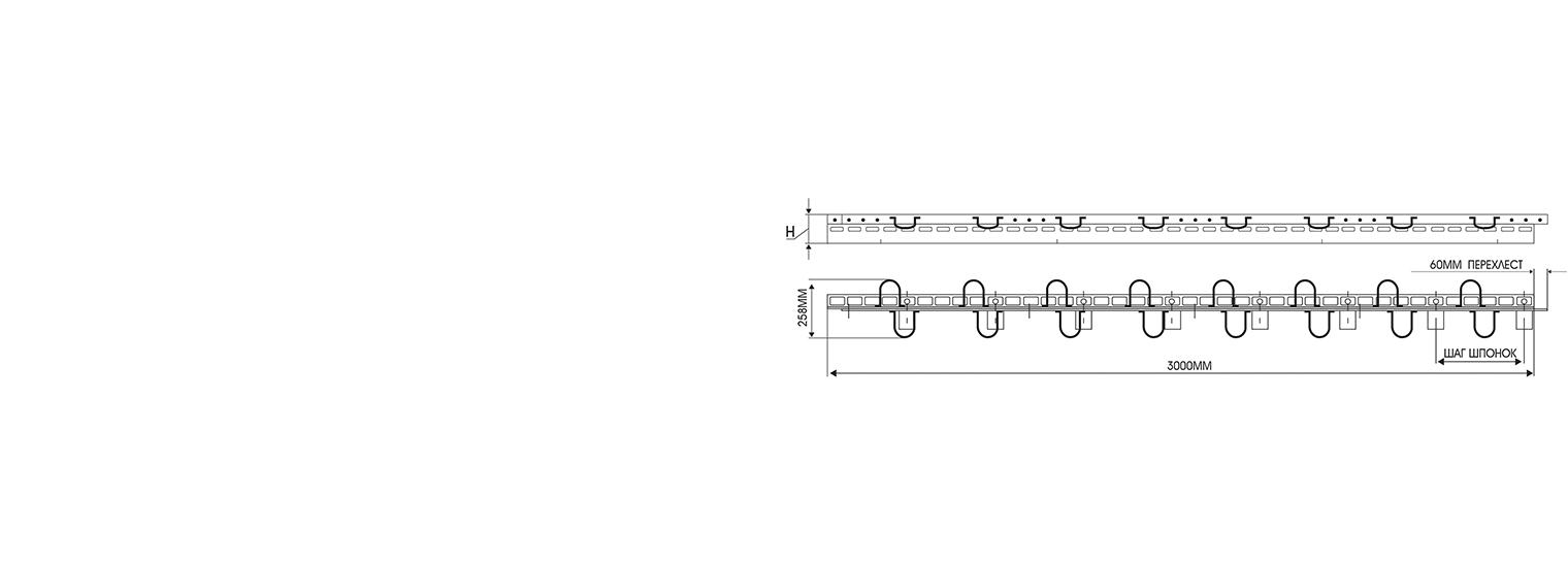 Профиль для деформационного шва ПДШ Альфа-профиль α-130-170 производство Спектрум