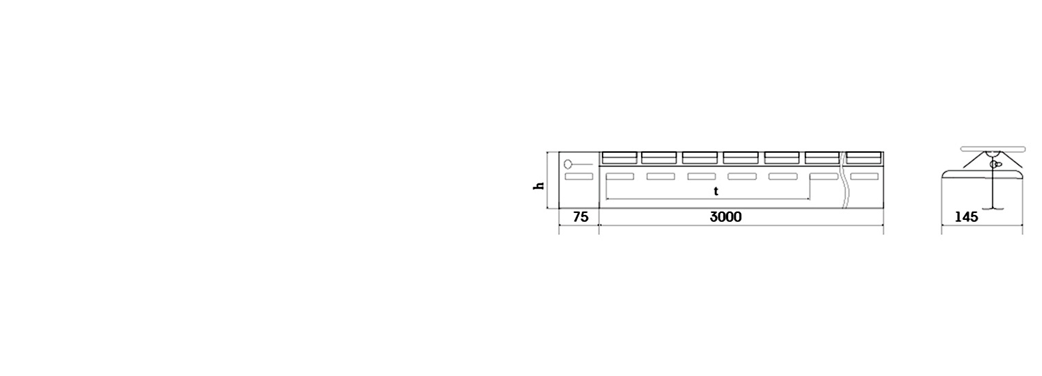 Профиль для деформационного шва ПДШ Синус-бета Sin-β-75 производство Спектрум
