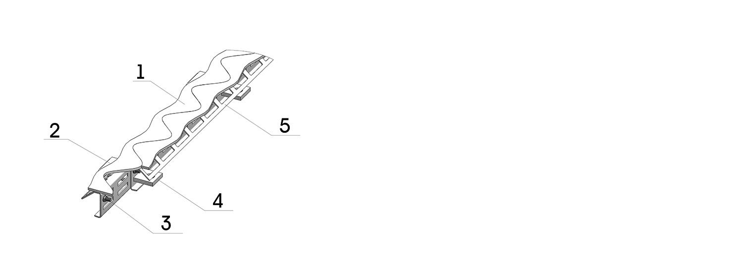 Профиль для деформационного шва ПДШ Синус-бета Sin-β-75 купить на производстве Спектрум